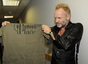 Sting supporting Patsy's Place!